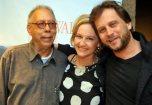 Jards Macalé, Rejane Zilles (diretora) e Erik Rocha